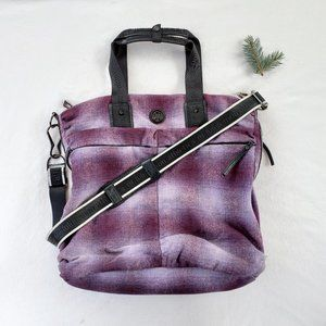 Lululemon Athletica Fast In Flight Plaid Wool Bag